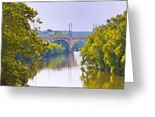 Along The Schuylkill River In Manayunk Greeting Card by Bill Cannon
