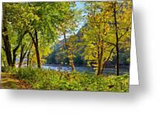 Along The Shenandoah River Greeting Card