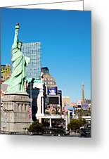 Along The Strip Greeting Card
