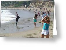 Along The Surf Greeting Card