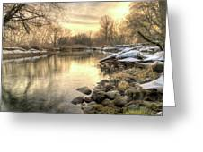 Along The Thames River Signed Greeting Card by Garvin Hunter