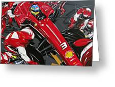 Alonso Ferrari 3 Greeting Card