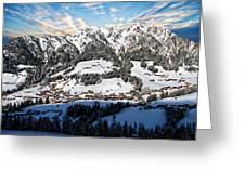 Alpbach Winter Landscape Greeting Card