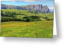 Alpe Di Siusi - Dolomiti Greeting Card