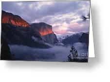 Alpen Glow On El Capitan Greeting Card
