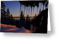 Alpenglow Claws Greeting Card