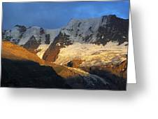 Alpenglow On The Swiss Alps Near Murren Greeting Card