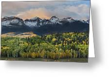 San Juan Mountains Fall Colors Sunrise Greeting Card
