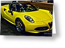 Alpha Romeo 4c Spider Greeting Card