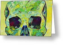 Alpha Skull Greeting Card