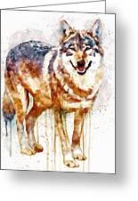 Alpha Wolf Greeting Card