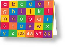 Alphabet Colors Greeting Card by Michael Tompsett