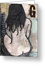 Alphabet Nude G Greeting Card by Joanne Claxton