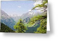 Alpine Altitude Greeting Card by Jeff Kolker