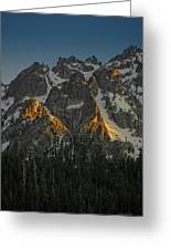 Alpine Glow Greeting Card
