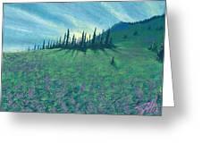 Alpine Hillside Greeting Card