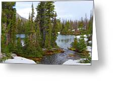 Alpine Lake Area Greeting Card