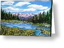 Alpine Lake Colorado Usa Greeting Card