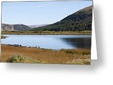 Alpine Lake In The Arapahoe National Forest Greeting Card