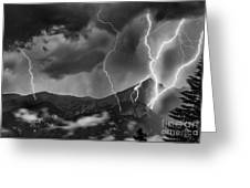 Alpine Lightning Greeting Card