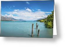 Alpine Scenery Panorama At Kinloch, New Zealand Greeting Card