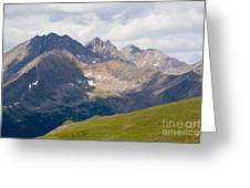 Alpine Tundra And The Colorado Continental Divide Greeting Card