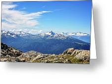 Alpine View In Canada Greeting Card