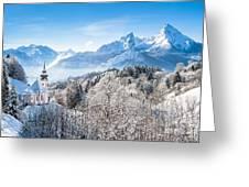 Alpine Winterdreams Greeting Card