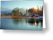 Alplake Winter Version Greeting Card