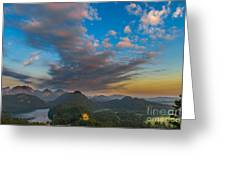 Alpsee Lake Greeting Card