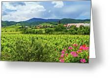 Alsace Landscape, France Greeting Card