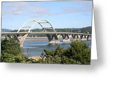 Alsea Bridge Br 7002 Greeting Card