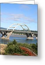 Alsea Bridge II Br-7005 Greeting Card