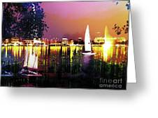 Alster In The Evening Greeting Card