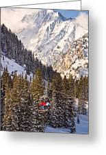 Alta Ski Resort Wasatch Mts Utah Greeting Card