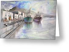 Altea Harbour On The Costa Blanca 01 Greeting Card