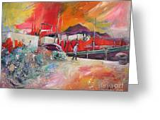 Altea Harbour Spain Greeting Card