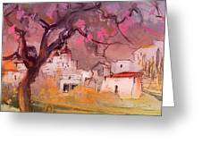 Altea La Vieja In Spain 18 Greeting Card