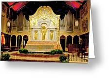 Alter - Cathedral Of St. Augustine Greeting Card