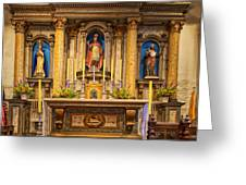 Alter Of The Mission San Buenaventura Greeting Card