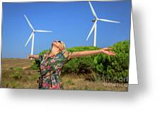 Alternative Energy Concept Greeting Card