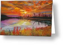 Alton Mill Summer Sunset Greeting Card