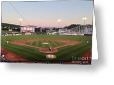 Altoona Curve Baseball Sunset Greeting Card