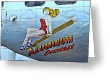 B - 17 Aluminum Overcast Pin-up Greeting Card