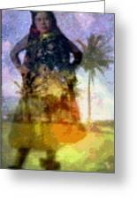 Aluna Ahiahi Hula Greeting Card