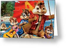 Alvin And The Chipmunks Chipwrecked Greeting Card
