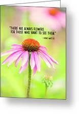 Always Flowers Greeting Card