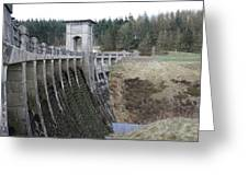 Alwen Reservoir Dam Greeting Card
