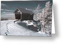 A.m. Foster Covered Bridge Infrared Greeting Card