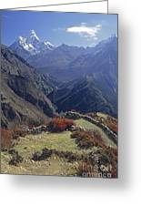 Ama Dablam Nepal In November Greeting Card